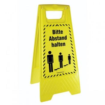 Warnaufsteller - Bitte Abstand halten